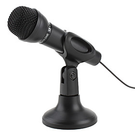 Premium 3.5mm Microphone with Stand for Pc and Laptops (Black)