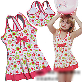 Children Bow One-piece Swimming Suit