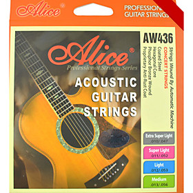 Alice - (AW436) Steel Acoustic Guitar Strings (010-047)