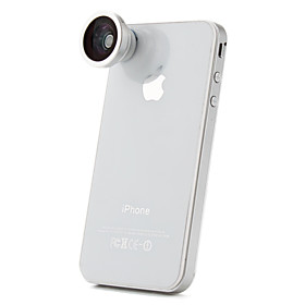 180 Degree Fish Eye/Super Wide Angle Macro Lens for iPhone, iPad  Other Cellphone
