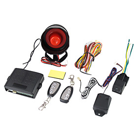 Security Auto Vehicle Burglar Alarm System 2 Remotes