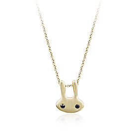 Gold-Plated Bunny Pendant Necklace