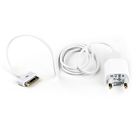 USB AC Adapter with USB cable for iPhones and Kindles (EU Plug)
