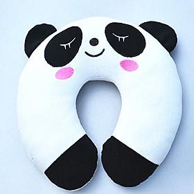 Panda Pattern Plush U-Shaped Pillow