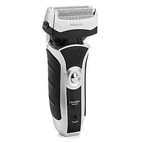 Double-head 2D Electric Shaver (Black  White)