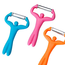 Hercules Shaped Fruit Vegetable Peeler (Random Color)