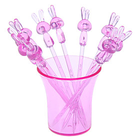 Bunny Style Fruit Snack Forks Picks with Holder