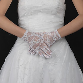 Lace Wrist Length Bridal Gloves (More Colors Available)