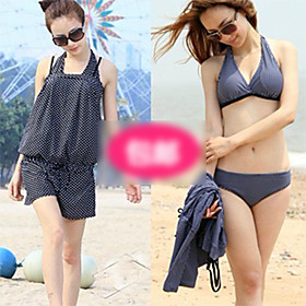 Straight Angle Bikini Three Piece Female Swimsuit