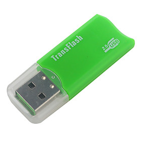 Mini USB TransFlash MicroSD USB Flash Drive (Green)