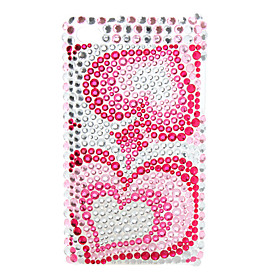 Big Heart-Shaped Style Diamond Case for iTouch 4