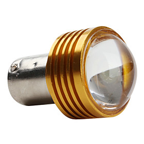1156 1W 50LM 12V LED White Light Car Bulb Golden Cover
