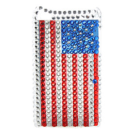Flag Pattern Style Diamond Protective Case for iTouch 4