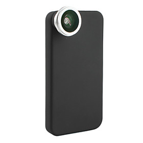 0.28x Fish Eye Thread Lens with Back Case for iPhone 4 and 4S