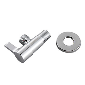 Brass Angle Valve with Stainless Steel Round Escutcheon