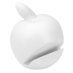 Apple Shaped Holder and Stand for iPhone and iPad (White)
