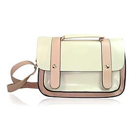 Simple Style PU Tote Cross Body Bag