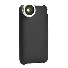 0.28x Fish Eye Thread Lens with Back Case for iPhone 3G and 3GS