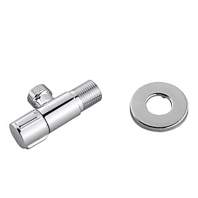 Brass Angle Valve with Stainless Steel Escutcheon(Chrome Finish)