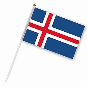 Nylon Iceland Flag (30 x 14 cm)