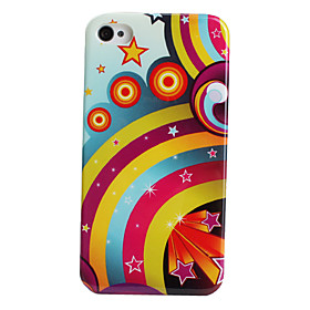 Rainbow Style Protective Case for iPhone 4 and 4S (Multi Colors)
