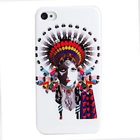Feather Image Style Protective Case for iPhone 4 and 4S (Multicolor)
