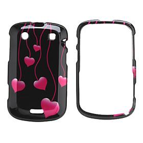 Heart Design Manual Style Case for Blackberry 9900 (Black)