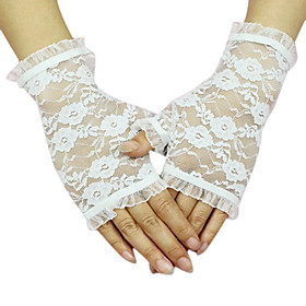 Lace Half Finger Bridal Gloves (More Colors Available)