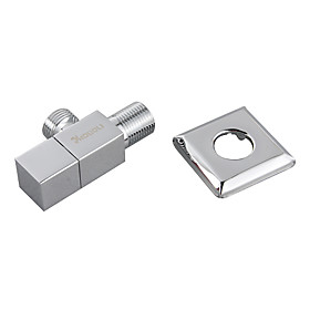 Brass Angle Valve with Stainless Steel Square Escutcheon