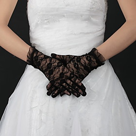 Lace Wrist Length Bridal Gloves (More Colors)