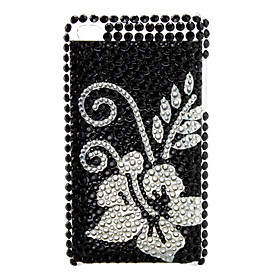 Flower Spot Style Diamond Case for iTouch 4