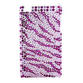 Purple Diamond Style Case for iTouch 4