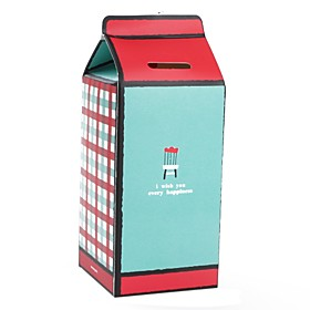 Milk Box Style Coin Bank