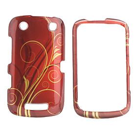 Simple Lines Design Back Case and Bumper Frame for Blackberry 9380 (Red)