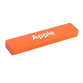 Cute Pencil Case with Word Apple (Assorted Color)