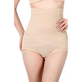 Chinlon/Cotton Boyshorts High Waist Shaper Briefs