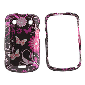 Butterfly Design Manual Style Case for Blackberry 9900 (Black)