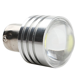 1156 1W 50LM 12V LED White Light Car Bulb Silver Cover