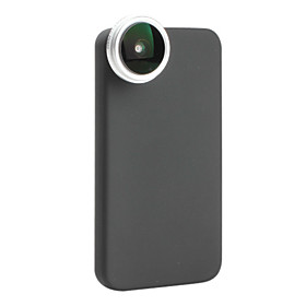 0.24x 190 Degree Super Fish Eye Thread Lens with Back Case for iPhone 4 and 4S