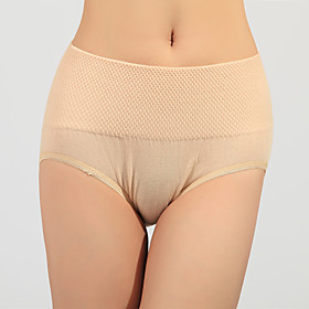 Seamless Cotton Waist Control Shaping Panties (More Colors)