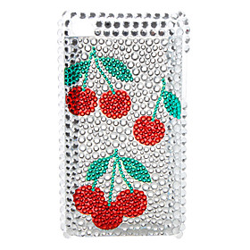 Flower Style Diamond Case for iTouch 4