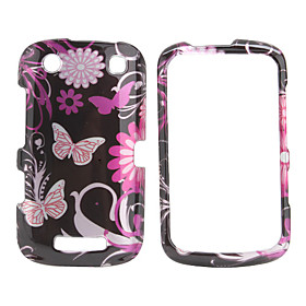 Butterfly Style Back Case and Bumper Frame for Blackberry 9380 (Black)