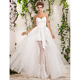 Two-In-One A-line Princess Sweetheart Floor-length Tulle Wedding Dress