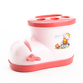 Toothbrush Holder with Toothpaste Squeezer