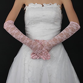 Lace Elbow Length Bridal Gloves (More Colors Available)