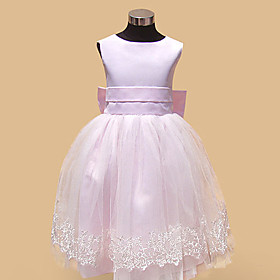 A-line Princess Tulle Flower Girl Dress
