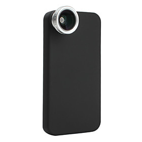 0.5x Wide-angle Fish Eye Thread Lens with Back Case for iPhone 4 and 4S