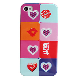 Lip Style Protective Case for iPhone 4 and 4S (Multicolor)