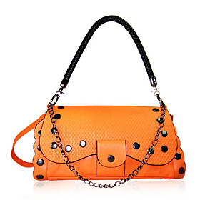 Stylish PU shoulder Bag With Rivet   Chain