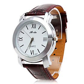 Unisex's Waterproof PU Analog Quartz Wrist Watch 6902 gz0009013 (Brown)